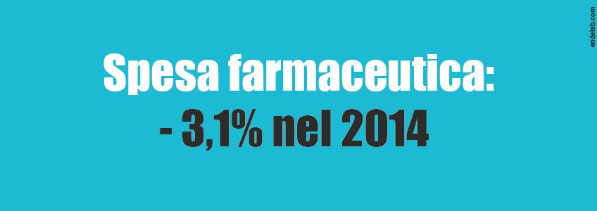 La spesa a carico del SSN in calo del 3,1% nel 2014.