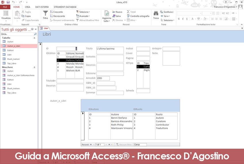 Microsoft Access: esempio di semplificazione per una sottomaschera.