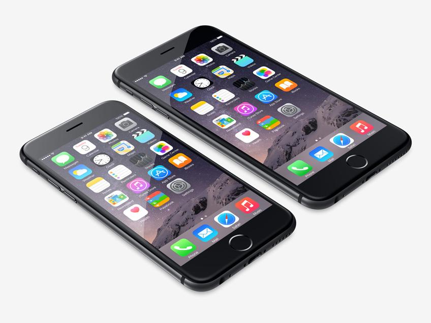 Gli smartphone iPhone6 e iPhone6 Plus di Apple.