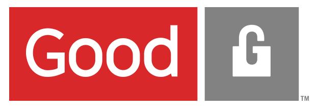Logo della Good Technology, azienda leader in mobile security.