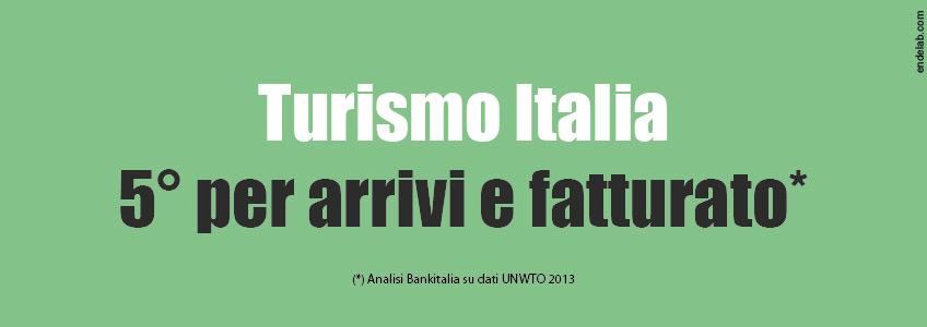 L'italia è la quinta potenza mondiale nel settore turistico. Aumentano gli arrivi e la spesa media.