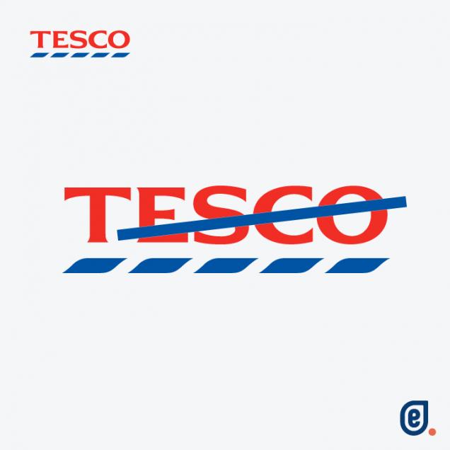 Tesco, logo social distancing - Ilaria Lazzaro, Endelab